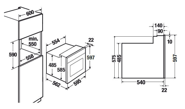 Электрический независимый духовой шкаф Kuppersbusch EEB 6360.1 JX1