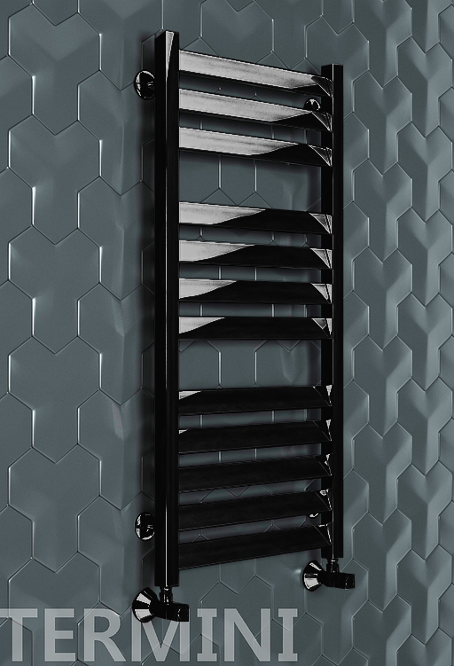 Termini E - электрический дизайн полотенцесушитель черного цвета