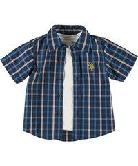 U.S. POLO ASSN. Рубашка в клетку с белой футболкой МВ24