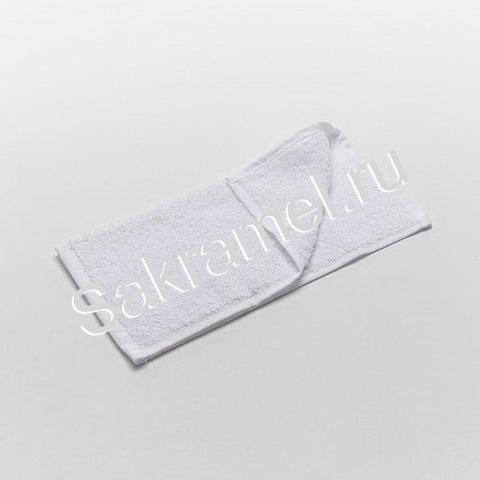 Полотенце махровое (Махра, белый, 50х90 см, 1 шт/упк, штучно)