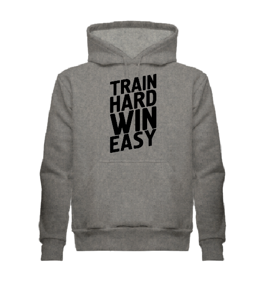Толстовка Train hard win easy, серая