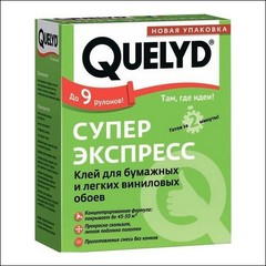 Клей для обоев QUELYD Экспресс Супер (прозрачный)
