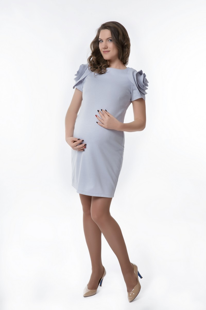 Платье 08291 серый