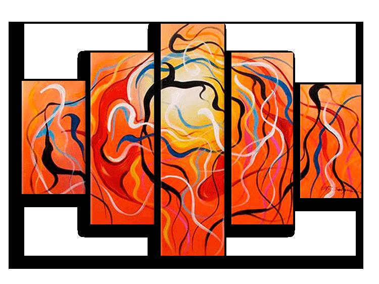 Модульные картины Зарождение жизни (ручная работа маслом) р16.png