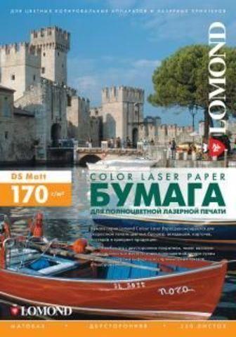 Двусторонняя матовая фотобумага Lomond Matt DS Color Laser Paper  для полноцветной лазерной печати , 170 г/м2, А3, 250 листов (0300231)