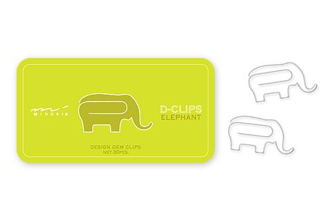 Скрепки Midori D-Clips Elephant (30 шт.)