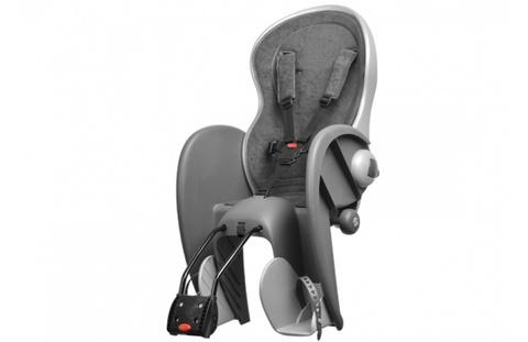 Детское велокресло Polisport Wallaby Evolution Deluxe серый