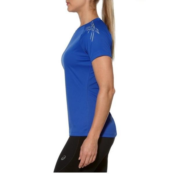 Женская беговая футболка Asics Stripe SS Top (126232 8091) синяя фото