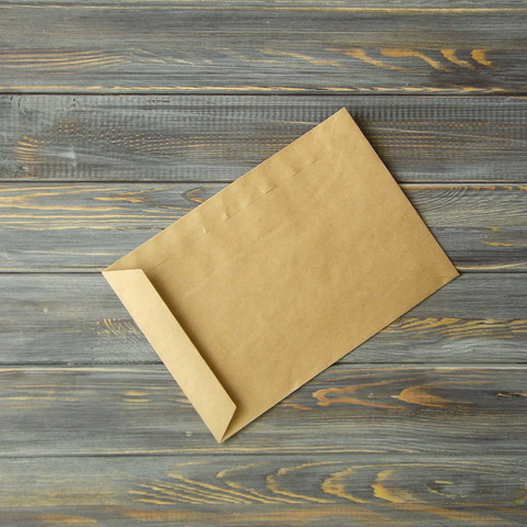 Крафт-конверт С5 (162*229мм) прямой клапан по узкой стороне