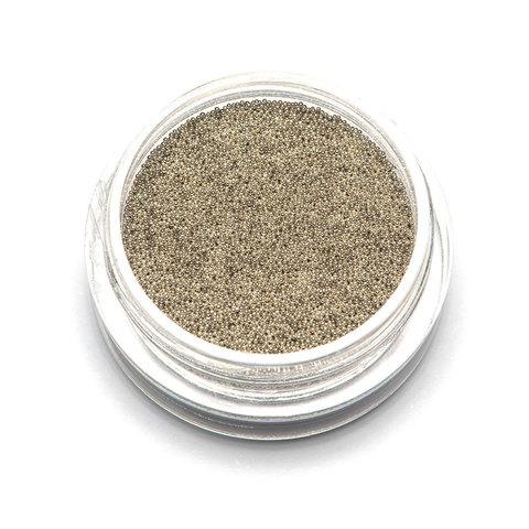 Бульонки супер мелкие - серебро - 0,2 мм (3 гр.)