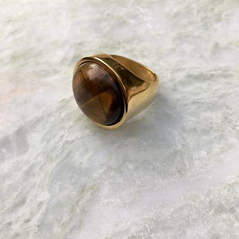 Кольцо Катара с янтарно-коричневой вставочкой