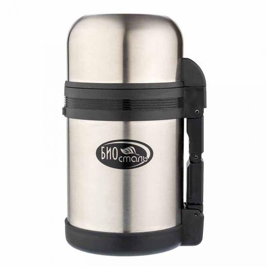 Термос универсальный (для еды и напитков) Biostal (1,2 литра) стальной*
