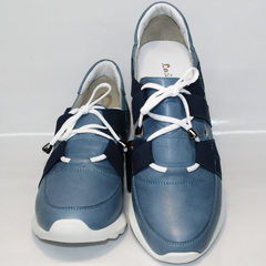 Кожаные спортивные туфли Ledy West 1484 115 Blue.