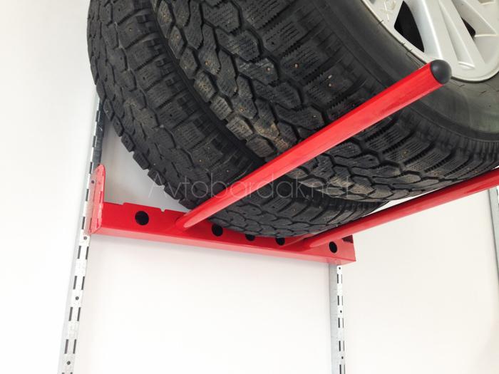 Настенные металлические стеллажи для автомобильных колес