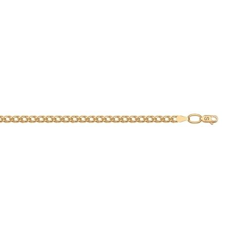 Цепь из золота 585 пробы плетение «Ромб двойной»