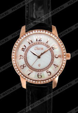 """Купить Наручные часы Полет """"Charm"""" 42009001 черный ремень по доступной цене"""