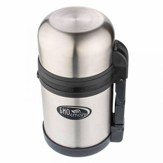 Термос универсальный (для еды и напитков) Biostal (1,2 литра), стальной*