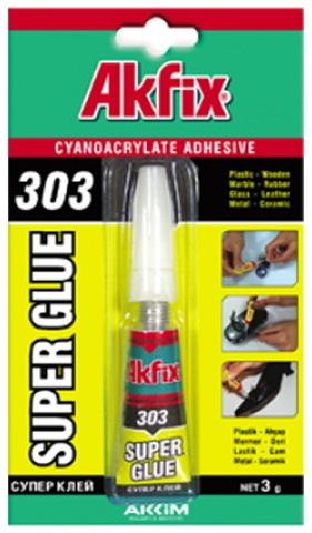 Клей Akfix 303 супер-клей 3g. (12/288)