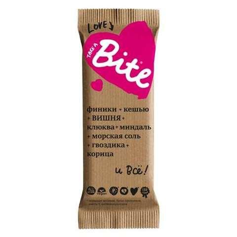 Bite батончик «Love» Вишня-миндаль 45г