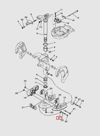 Провод для лодочного мотора T40 Sea-PRO (20-27)