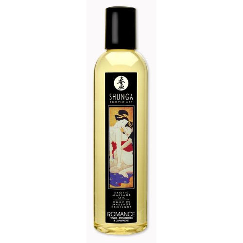 Массажные масла и свечи: Массажное масло с ароматом клубники и шампанского Romance - 250 мл.