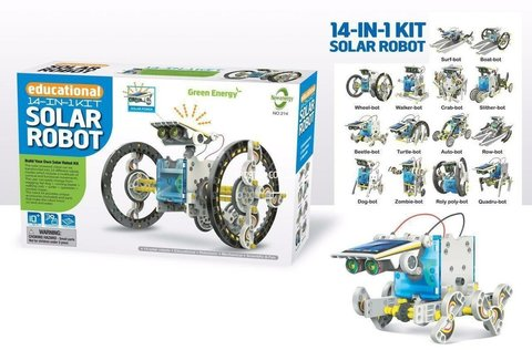 Конструктор CuteSunlight Toys Factory Solar robot kit 14 в 1 электромеханический