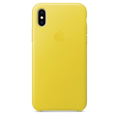 Чехол iPhone X/XS Leather Case /spring yellow/
