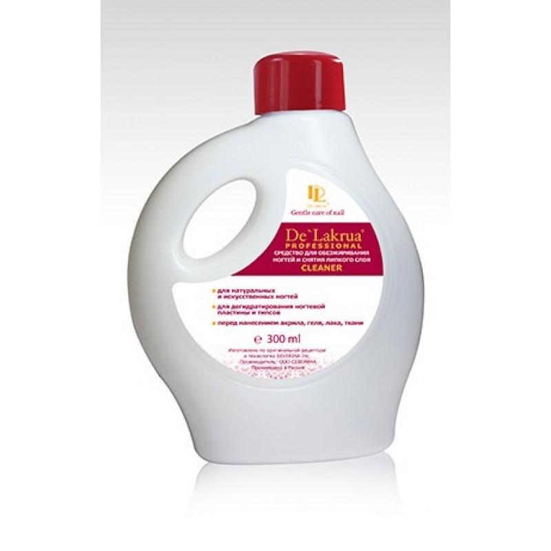 Жидкость для обезжиривания ногтей De Lakrua Cleaner 300мл