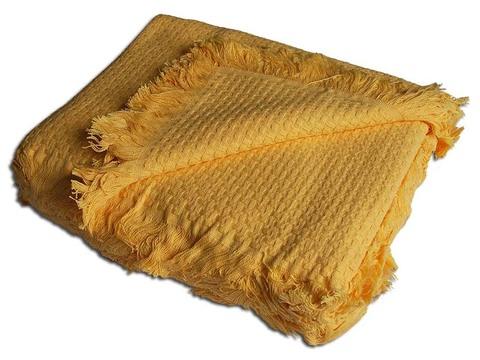 Плед вязаный хлопковый  Design  желтый 1408  Buddemeyer Бразилия