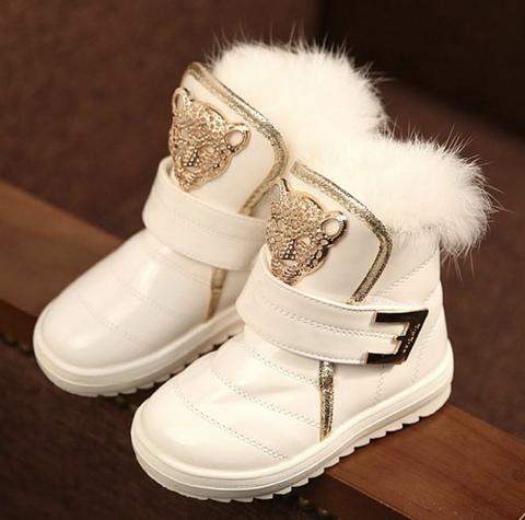 Ботинки с леопардом
