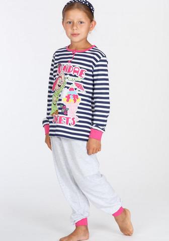 Яркая пижама для девочек с гномиком
