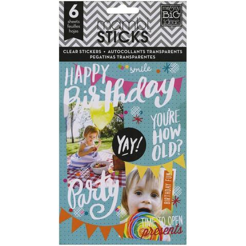 Блокнот со стикерами - Create 365 Planner Stickers- Birthday 12х23см/6л
