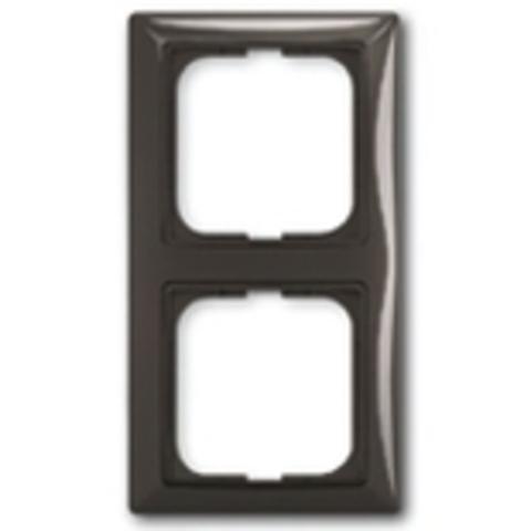 Рамка на 2 поста. Цвет шато-черный. ABB(АББ). Basic 55(Бейсик 55). 1725-0-1507