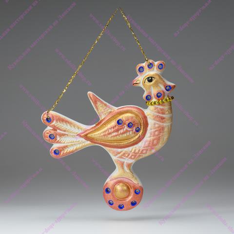 Игрушка фарфоровая плоская - Птица