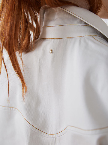 Рубашка джинсовая белый