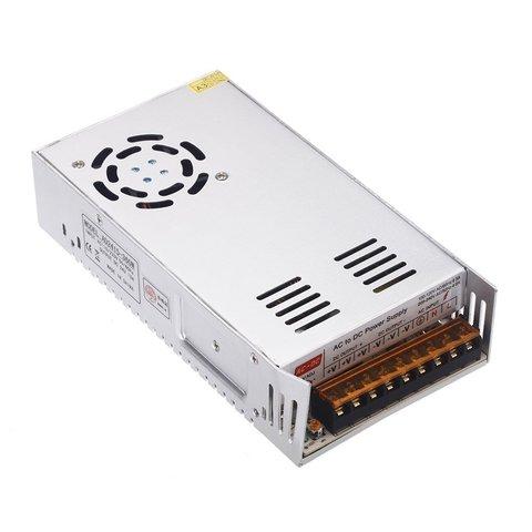 Блок питания 360Вт-12В-IP20 для светодиодных лент и модулей, металл, с вентилятором TDM