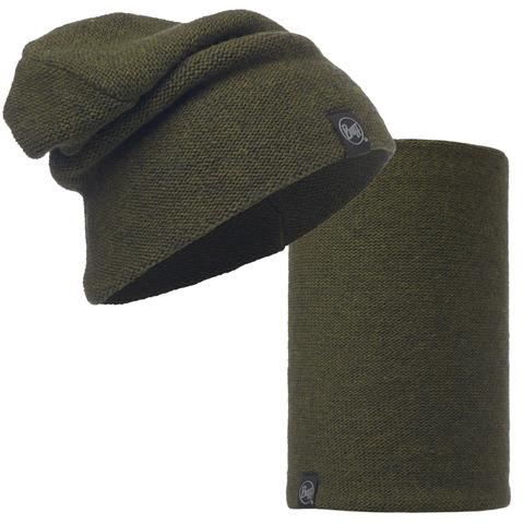 Комплект шапка шарф вязаные Buff Colt Forest Night