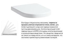 Съемное сиденье с крышкой Laufen LB3 modern-design, SoftClose, с системой плавного закрывания, антибактериальное покрытие 8.9568.3.300.000.1