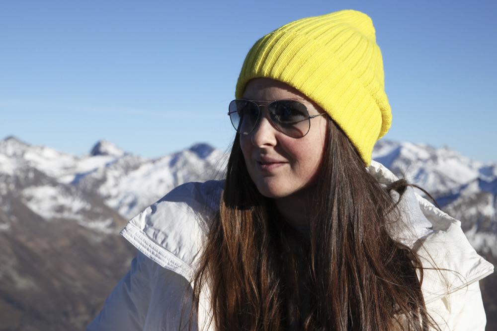 Комплект вязаный шапка снуд цвет желток желтый SASHA JUNIOR