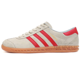 Кроссовки Мужские Adidas Hamburg Original Grey Suede Red