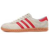 Кроссовки Мужские Adidas Hamburg Original Grey Suede Red