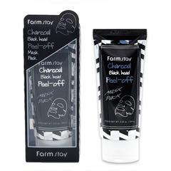 Farmstay Charcoal Black Head Peel-off Mask Pack - Очищающая маска-пленка с углем