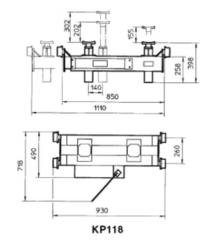 Канавный домкрат (траверса) гидравлический, г/п 13,5т BUTLER КР118 (Италия)