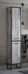 Шкаф-пенал Corozo Айрон 35 напольный, черный, антик