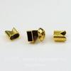 """Замок для шнура 5 мм из 3х частей """"Сердце"""" 15х15х14 мм, 13х12 мм (цвет - античное золото)"""