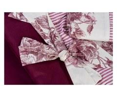 Постельное белье 2 спальное евро макси Old Florence Амели бордовое