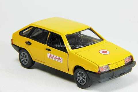 VAZ-2109 Lada Samara hatchback 5-doors medical service (yellow) Agat Mossar Tantal 1:43