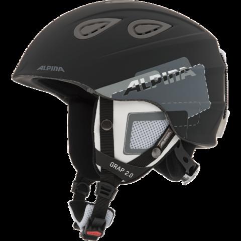 шлем горнолыжный Alpina GRAP 2.0 black-grey matt