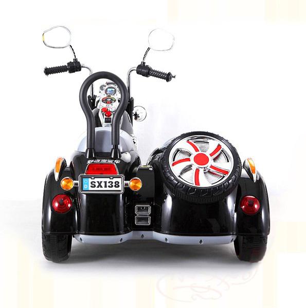 Электромобиль детский мотоцикл с коляской Vip Toys