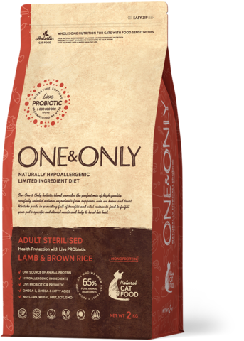 Сухой корм One&Only Lamb & Brown Rice Adult Sterilisie